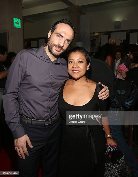 Producer Moises Zonana and actress Monica del Carmen Monica attend the Mexican premiere of '600 Millas' during The 13th Annual Morelia International...