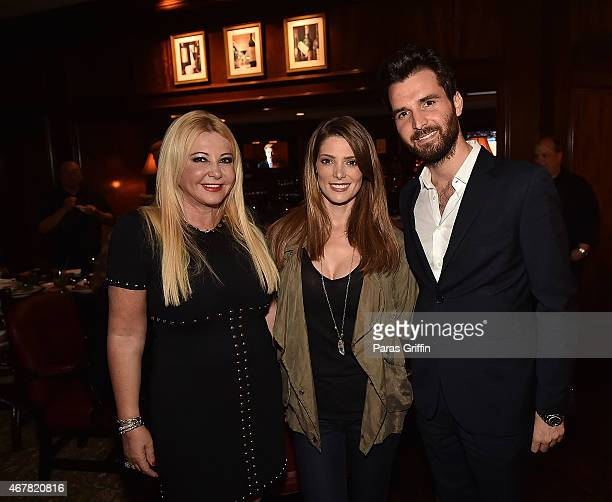 Producer Monika Bacardi actress Ashley Greene and producer Andrea Iervolino attend Andrea Monika Host A Private Party With The Cast Of 'In Dubious...