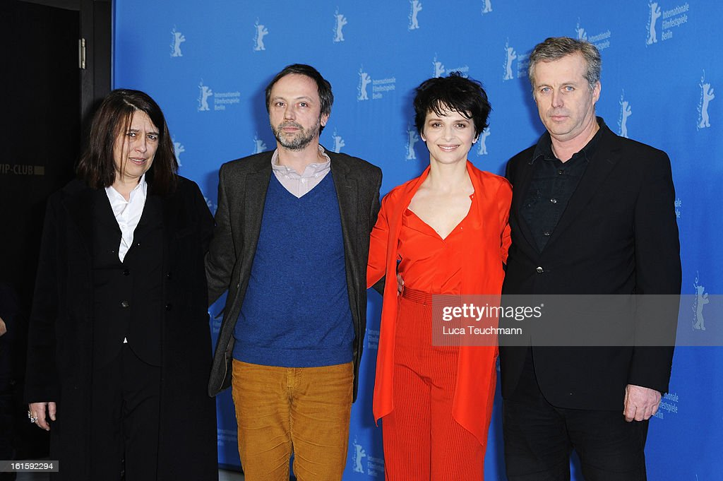 Producer Muriel Merlin, actor Jean Luc Vincen, director <a gi-track='captionPersonalityLinkClicked' href=/galleries/search?phrase=Bruno+Dumont&family=editorial&specificpeople=607004 ng-click='$event.stopPropagation()'>Bruno Dumont</a> and actress <a gi-track='captionPersonalityLinkClicked' href=/galleries/search?phrase=Juliette+Binoche&family=editorial&specificpeople=209273 ng-click='$event.stopPropagation()'>Juliette Binoche</a> attend the 'Camille Claudel 1915' Photocall during the 63rd Berlinale International Film Festival at the Grand Hyatt Hotel on February 12, 2013 in Berlin, Germany.
