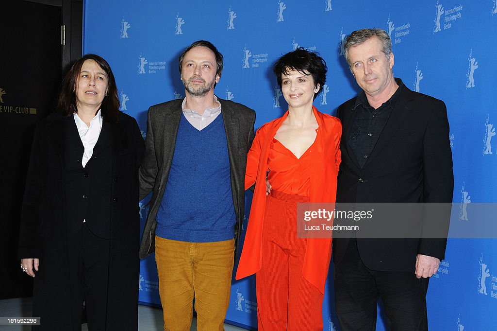 Producer Muriel Merlin, actor Jean Luc Vincen, director Bruno Dumont and actress Juliette Binoche attend the 'Camille Claudel 1915' Photocall during the 63rd Berlinale International Film Festival at the Grand Hyatt Hotel on February 12, 2013 in Berlin, Germany.