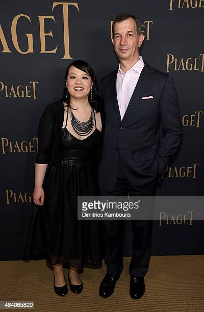 Producer Mynette Louie and CEO of Piaget SA Philippe LeopoldMetzger attend the 30th Annual Film Independent Spirit Awards at Santa Monica Beach on...