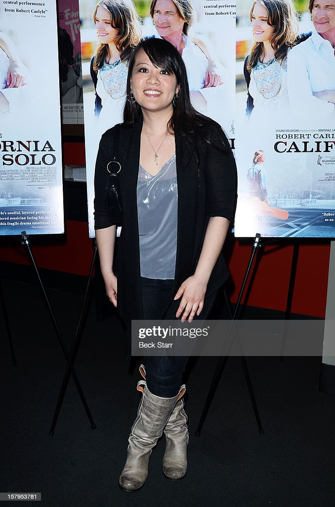 Producer Mynette Louie arrives at 'California Solo' Los Angeles premiere at the Nuart Theatre on December 7, 2012 in West Los Angeles, California.