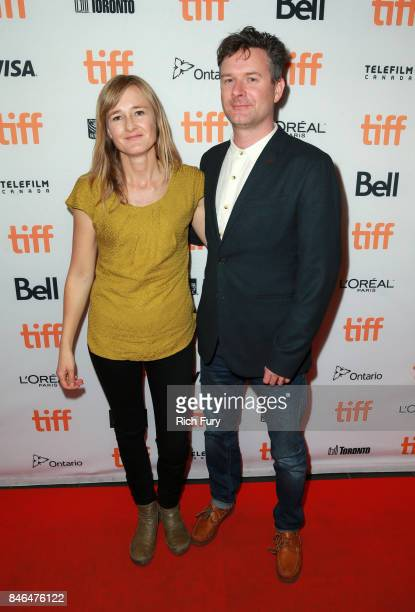 Producer Nadia Maxwell and writer/director Nic Gorman attend 'Human Traces' Photo Call during the 2017 Toronto International Film Festival at TIFF...