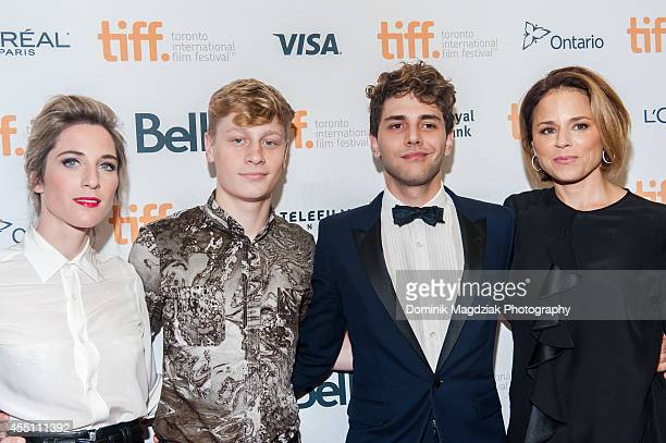 Producer Nancy Grant actor AntoineOlivier Pilon director Xavier Dolan and actress Suzanne Clement attend the 'Mommy' premiere during the Toronto...