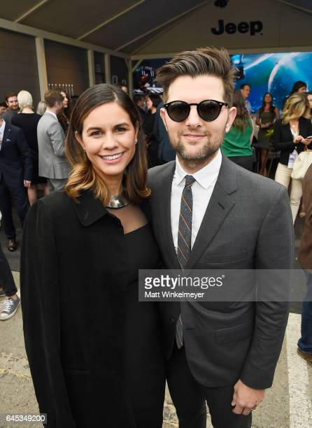 Producer Naomi Scott and actorproducer Adam Scott attend the 2017 Film Independent Spirit Awards at the Santa Monica Pier on February 25 2017 in...