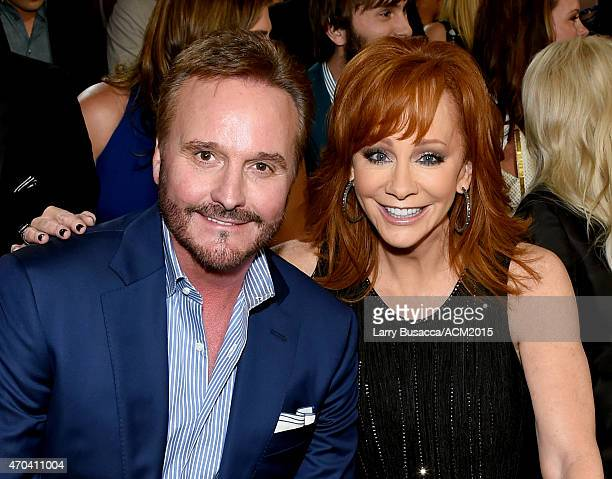 Producer Narvel Blackstock and honoree Reba McEntire attend the 50th Academy of Country Music Awards at ATT Stadium on April 19 2015 in Arlington...