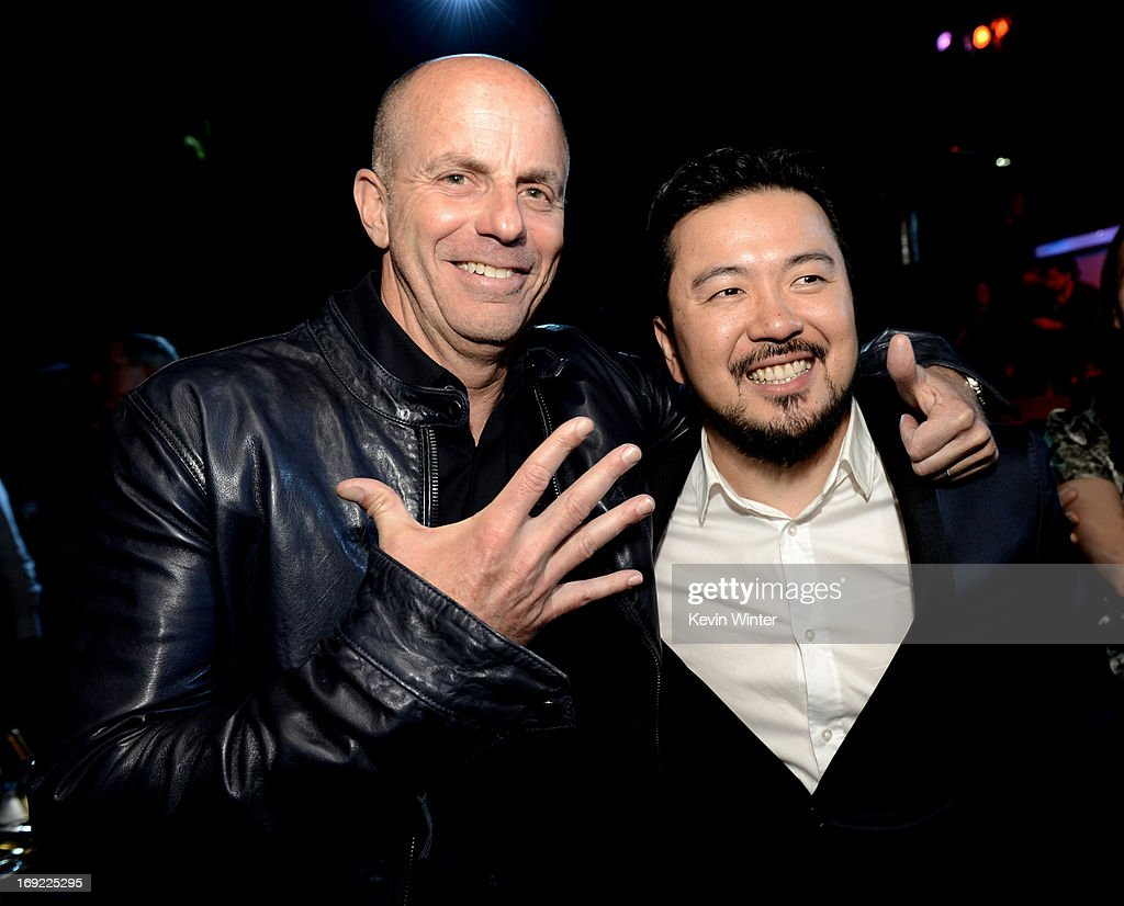 Producer Neal Moritz (L) and director/executive producer Justin Lin pose at the after party for the premiere of Universal Pictures' 'Fast & Furious 6' at the Gibson Amphitheatre on May 21, 2013 in Universal City, California.