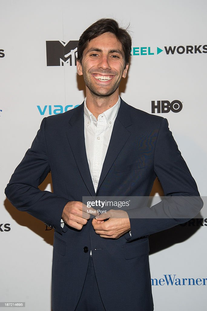 Producer <a gi-track='captionPersonalityLinkClicked' href=/galleries/search?phrase=Nev+Schulman&family=editorial&specificpeople=7187644 ng-click='$event.stopPropagation()'>Nev Schulman</a> attends the REEL WORKS 2013 benefit gala at The Edison Ballroom on November 6, 2013 in New York City.