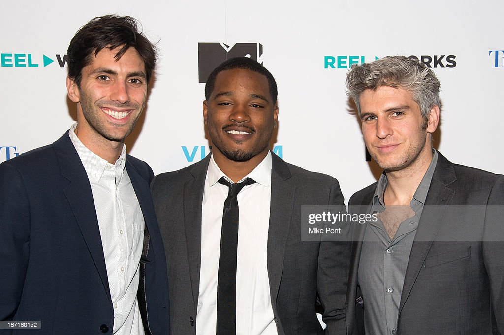 Producer <a gi-track='captionPersonalityLinkClicked' href=/galleries/search?phrase=Nev+Schulman&family=editorial&specificpeople=7187644 ng-click='$event.stopPropagation()'>Nev Schulman</a>, Writer/Director <a gi-track='captionPersonalityLinkClicked' href=/galleries/search?phrase=Ryan+Coogler&family=editorial&specificpeople=7316581 ng-click='$event.stopPropagation()'>Ryan Coogler</a>, and Director Max Joseph attend the REEL WORKS 2013 benefit gala at The Edison Ballroom on November 6, 2013 in New York City.