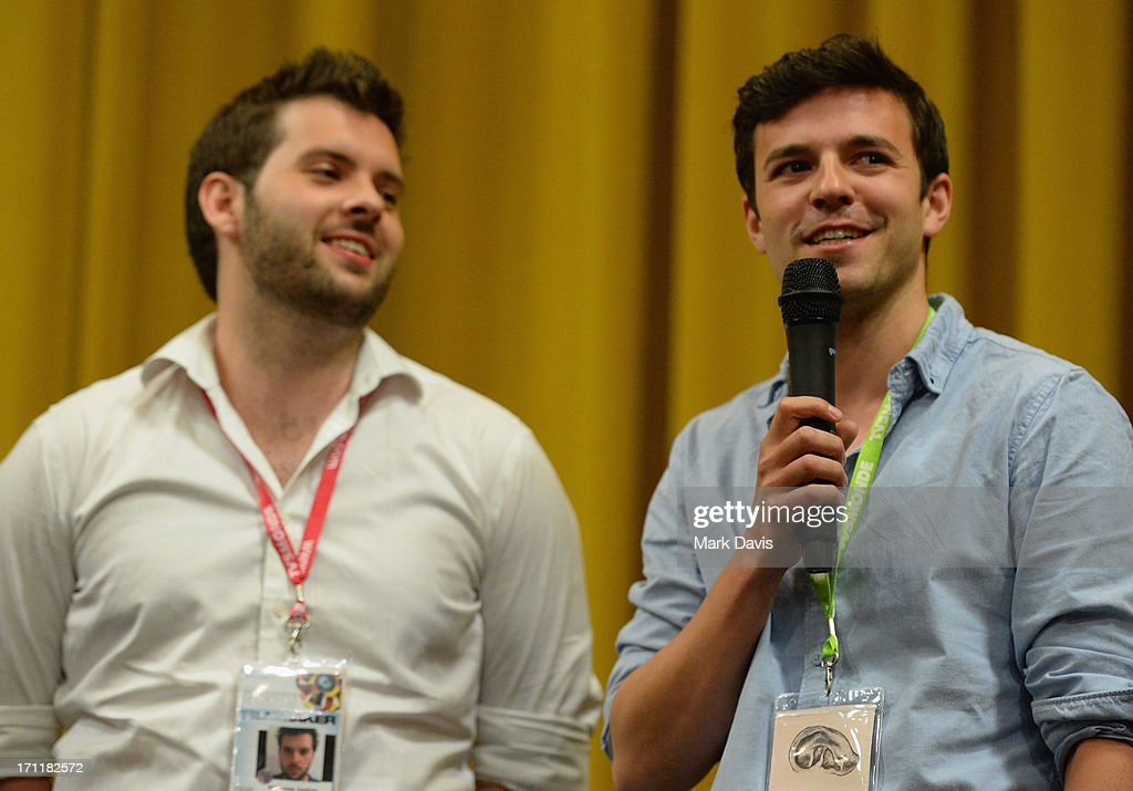 Producer Nicholas Hatton (L) attends the 2013 Palm Springs ShortFest 'Shooting Stars' Screening held at the Camelot theater on June 21, 2013 in Palm Springs, California.