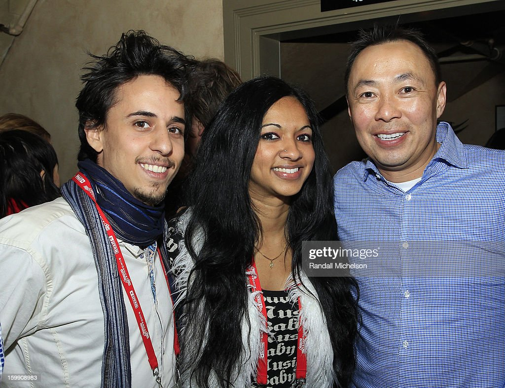 Producer Nick Bruckman, composer Gingger Shankar and BMI Executive Ray Yee attend the BMI Sundance Dinner at Zoom Restaurant on January 22, 2013 in Park City, Utah.