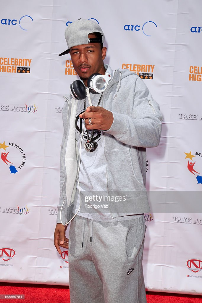 Producer Nick Cannon arrives at LAUSD's Beyond the Bell Branch and Nick Cannon's Celebrity High present 'Spotlight On Success' at Paramount Studios on May 11, 2013 in Hollywood, California.