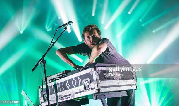 Producer Nick Sanborn of Sylvan Esso performs in concert at Stubb's BarBQ on August 30 2017 in Austin Texas