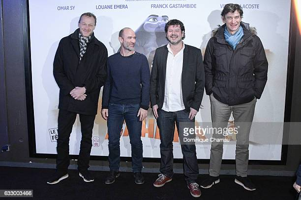 Producer Nicolas Altmayer director Pierre Core producers Christian Ronget and Eric Altmayer attend 'Sahara' Paris Premiere at UGC Cine Cite Bercy on...