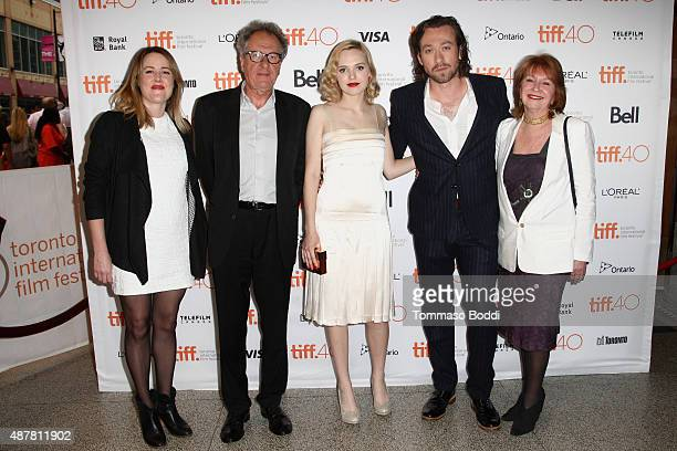 Producer Nicole O'Donohue Actors Geoffrey Rush Odessa Young Write/Director Simon Stone and Producer Jan Chapman attend 'The Daughter' photo call...