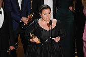 Producer Nicole Rocklin accepts the Best Picture award for 'Spotlight' onstage during the 88th Annual Academy Awards at the Dolby Theatre on February...