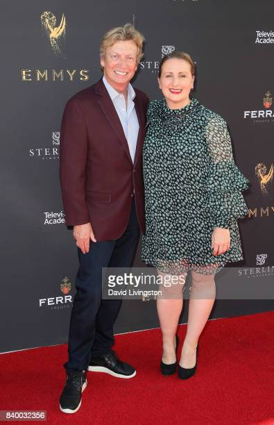 Producer Nigel Lythgoe and choreographer Mandy Moore attend the Television Academy's Choreography Peer Group Celebration at Saban Media Center on...