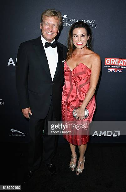 Producer Nigel Lythgoe and Stephanie Magid attend the 2016 AMD British Academy Britannia Awards presented by Jaguar Land Rover and American Airlines...