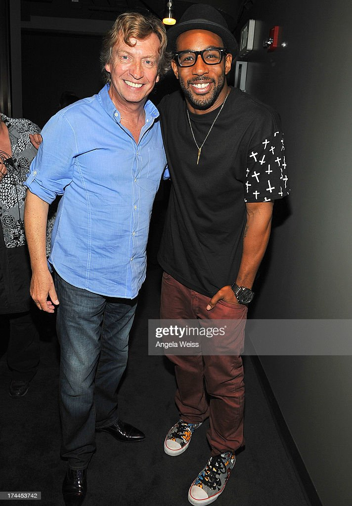 Producer <a gi-track='captionPersonalityLinkClicked' href=/galleries/search?phrase=Nigel+Lythgoe&family=editorial&specificpeople=736462 ng-click='$event.stopPropagation()'>Nigel Lythgoe</a> and Stephen ÒtWitchÓ Boss attend the Screen Actors Guild Foundation, SAG-AFTRA and Career Transitions for Dancers presents 'Dancers Forum' with <a gi-track='captionPersonalityLinkClicked' href=/galleries/search?phrase=Nigel+Lythgoe&family=editorial&specificpeople=736462 ng-click='$event.stopPropagation()'>Nigel Lythgoe</a>, Cat Deeley, Adam Shankman, Kym Johnson, tWitch and more at SAG Foundation Actors Center on July 25, 2013 in Los Angeles, California.