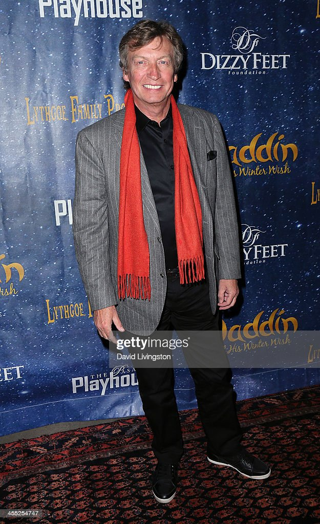 Producer <a gi-track='captionPersonalityLinkClicked' href=/galleries/search?phrase=Nigel+Lythgoe&family=editorial&specificpeople=736462 ng-click='$event.stopPropagation()'>Nigel Lythgoe</a> attends 'Aladdin and His Winter Wish' opening night at the Pasadena Playhouse on December 11, 2013 in Pasadena, California.