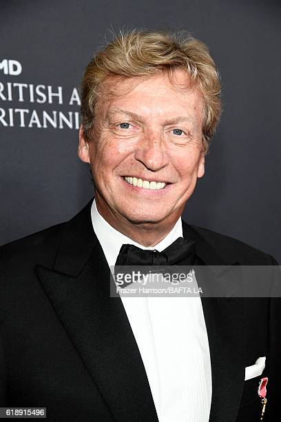 Producer Nigel Lythgoe attends the 2016 AMD British Academy Britannia Awards presented by Jaguar Land Rover and American Airlines at The Beverly...