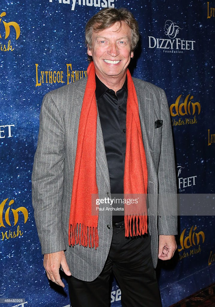 Producer <a gi-track='captionPersonalityLinkClicked' href=/galleries/search?phrase=Nigel+Lythgoe&family=editorial&specificpeople=736462 ng-click='$event.stopPropagation()'>Nigel Lythgoe</a> attends the opening night of 'Aladdin And His Winter Wish' at the Pasadena Playhouse on December 11, 2013 in Pasadena, California.