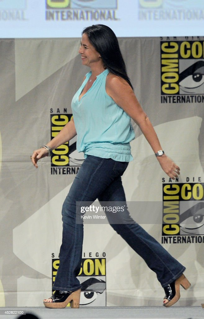 Producer Nikki Silver attends the 'The Giver' presentation during ComicCon International 2014 at the San Diego Convention Center on July 24 2014 in...