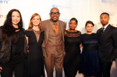 Producer Nina Yang Bongiovi Ahna O'Reilly producer Forest Whitaker Octavia Spencer Melonie Diaz and Micheal B Jordan arrive at the premiere of The...