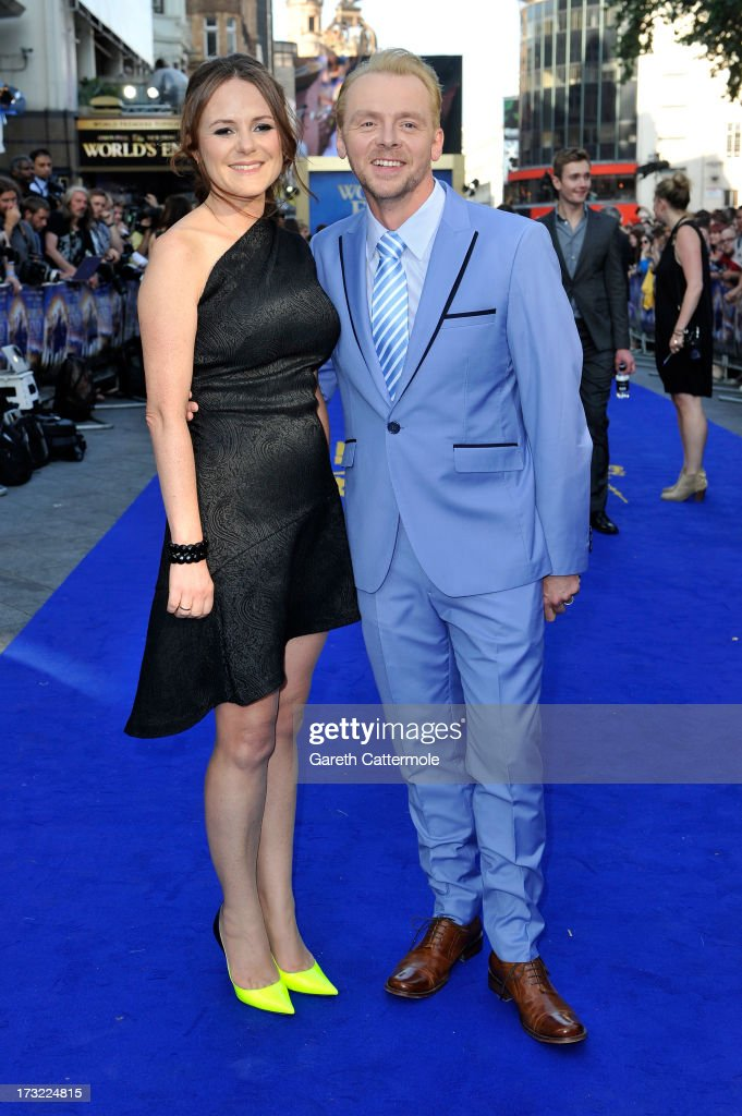 Producer Nira Park and actor <a gi-track='captionPersonalityLinkClicked' href=/galleries/search?phrase=Simon+Pegg&family=editorial&specificpeople=206280 ng-click='$event.stopPropagation()'>Simon Pegg</a> attend the World Premiere of The World's End at Empire Leicester Square on July 10, 2013 in London, England.