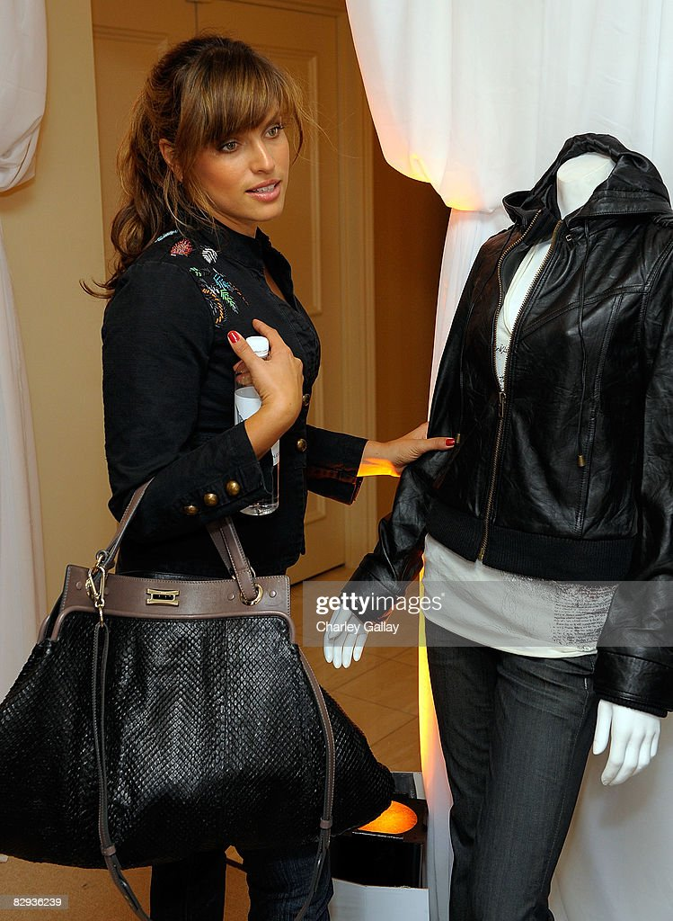 Producer Noa Tishby poses with the Monarchy Collection display during the HBO Luxury Lounge in honor of the 60th annual Primetime Emmy Awards featuring the In Style diamond suite, held at the Four Seasons Hotel on September 21, 2008 in Beverly Hills, California.