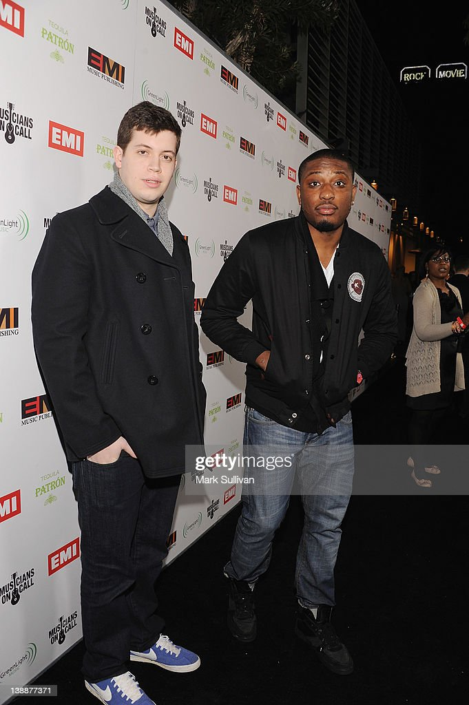 Producer Noah Beresin and rapper Chidera Anamege of Chiddy Bang attend the EMI Post-GRAMMY Party At The Capitol Tower at Capitol Records Tower on February 12, 2012 in Los Angeles, California.