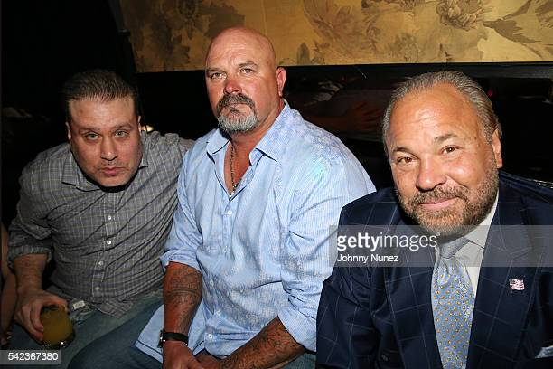 Producer Noel Ashman former professional baseball player David Wells and actor Bo Dietl attend the 'Back In The Day' Premiere Party at Beautique on...