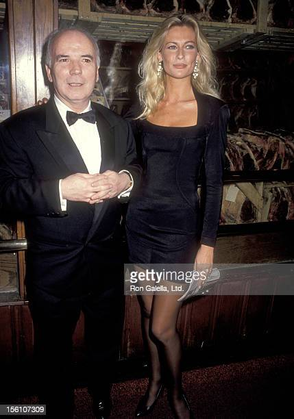 Producer Noel Pearson and actress Alison Doody attend the 'Someone Who'll Watch Over Me' Opening Night Party on November 23 1992 at Gallagher's in...