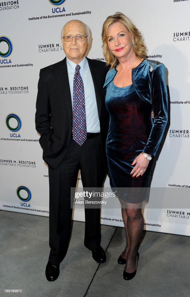 Producer Norman Lear and co-founder of the Environmental Media Association Lyn Lear attend UCLA Institute Of The Environment And Sustainability's 2nd Annual 'An Evening Of Environmental Excellence' - Arrivals on March 5, 2013 in Beverly Hills, California.