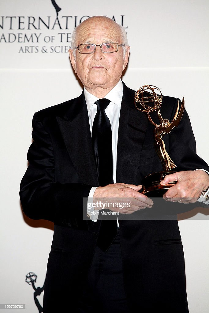 Producer <a gi-track='captionPersonalityLinkClicked' href=/galleries/search?phrase=Norman+Lear&family=editorial&specificpeople=206632 ng-click='$event.stopPropagation()'>Norman Lear</a> attends the 40th International Emmy Awards on November 19, 2012 in New York City.