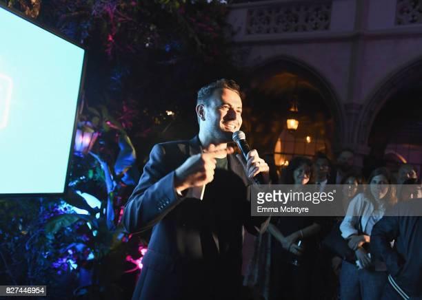 Producer of Carpool Karaoke series Ben Winston speaks at Apple Music Launch Party Carpool Karaoke The Series with James Corden on August 7 2017 in...