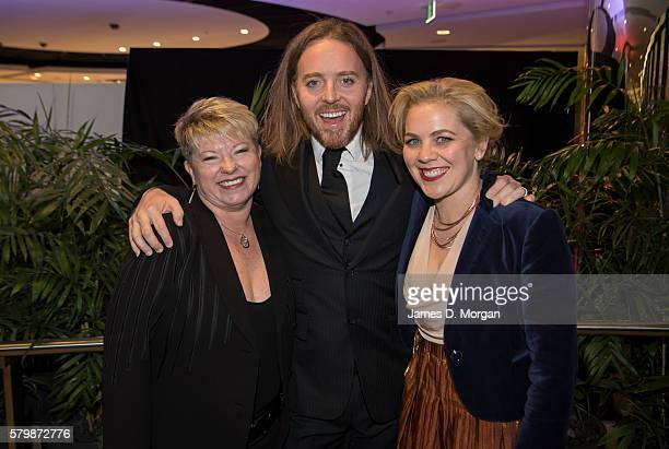 Producer of Matilda the Musical in Australia Louise Withers with Tim Minchin and his sister Nel Minchin arrive ahead of the 16th Annual Helpmann...