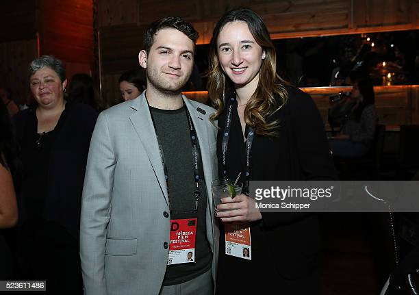 Producer of 'One Good Pitch' Evan Ari Kelman and director of 'One Good Pitch' Parker Hill attend the Tribeca Film Festival Wrap Party on April 23...