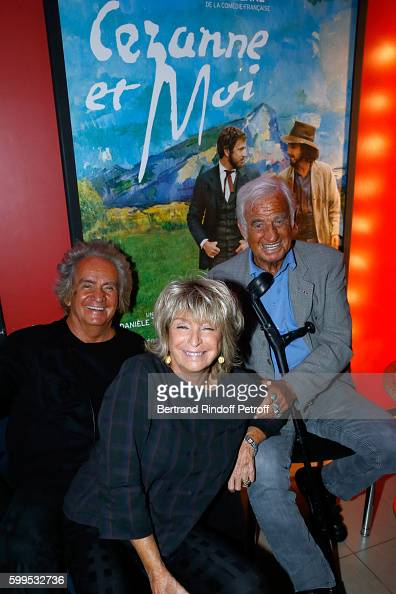 Producer of the movie Albert Koski his wife Director of the movie Daniele Thompson and actor JeanPaul Belmondo attend the 'Cezanne et Moi' Premiere...