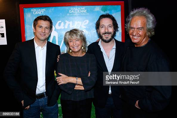 Producer of the movie Albert Koski his wife Director of the movie Daniele Thompson actors of the movie Guillaume Canet and Guillaume Gallienne attend...