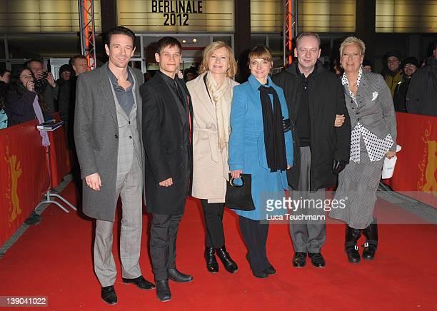 Producer Oliver Berben actors Vinzenz Kiefer Maren Kroymann Christina Grosse guest and director Doris Doerrie attend the 'Bliss' Premiere during day...