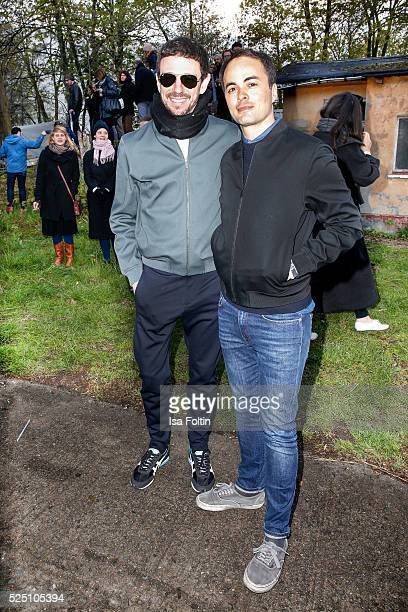 Producer Oliver Berben and actor Nikolai Kinski son of Klaus Kinski attend the presentation of a joint project by COS and Michael Sailstorfer on...