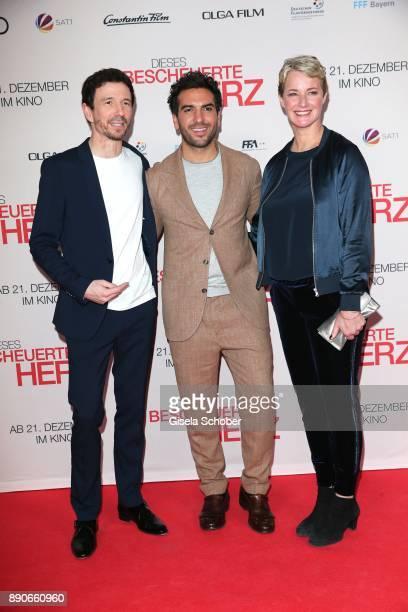 Producer Oliver Berben Elyas M'Barek and Producer Viola Jaeger during the 'Dieses bescheuerte Herz' premiere at Mathaeser Filmpalast on December 11...