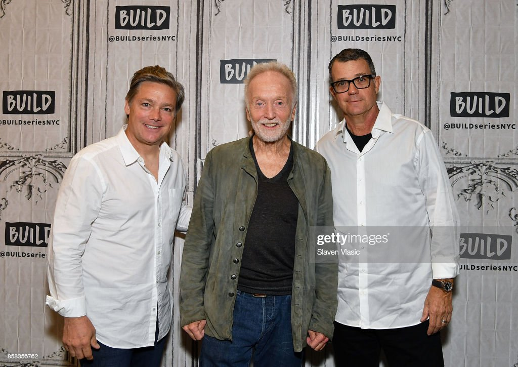 Producer Oren Koules, actor Tobin Bell and producer Mark Burg visit Build to discuss 'Jigsaw' at Build Studio on October 6, 2017 in New York City.
