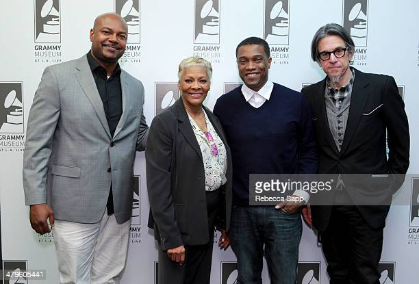 Producer P Frank Williams recording artist Dionne Warwick Vice President of Music Strategy Programming for Centric Jon Marc Sandifer and Vice...
