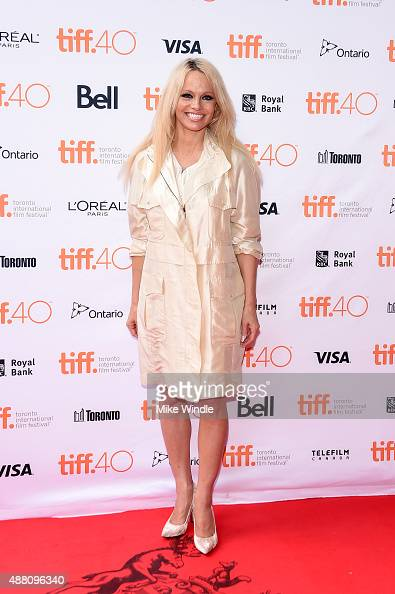 Producer Pamela Anderson attends the 'This Changes Everything' photo call during the 2015 Toronto International Film Festival at Ryerson Theatre on...