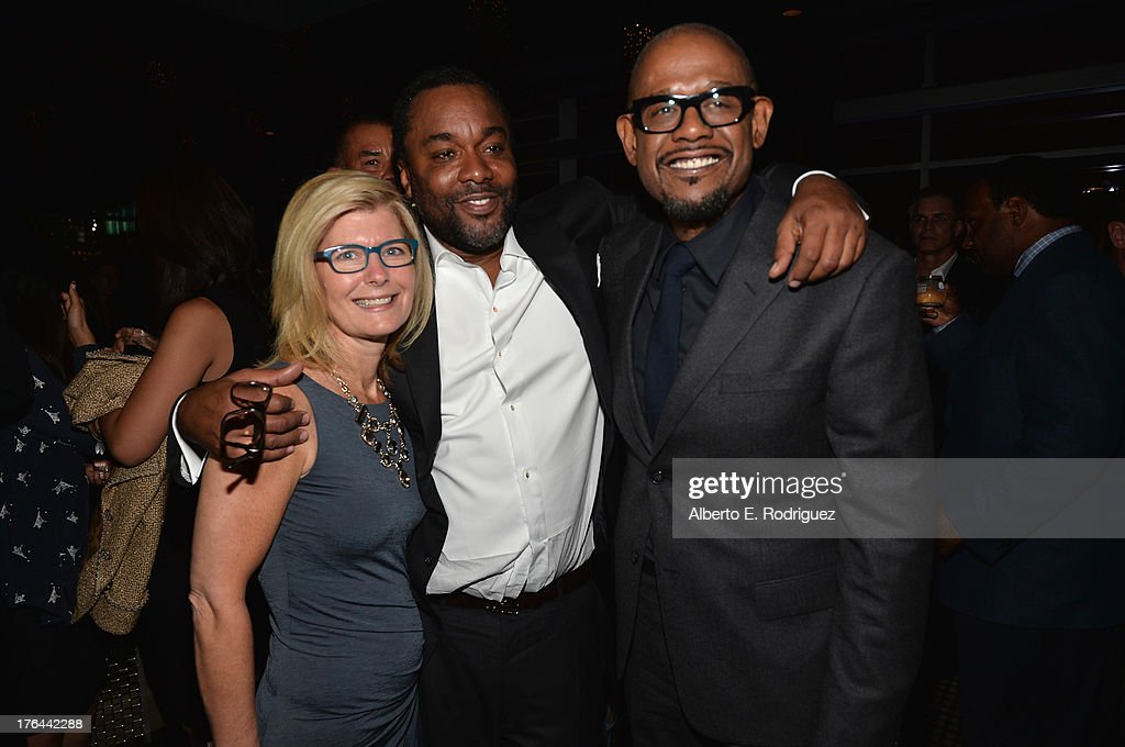 Producer Pamela Oas Williams, director <a gi-track='captionPersonalityLinkClicked' href=/galleries/search?phrase=Lee+Daniels&family=editorial&specificpeople=209078 ng-click='$event.stopPropagation()'>Lee Daniels</a> and actor <a gi-track='captionPersonalityLinkClicked' href=/galleries/search?phrase=Forest+Whitaker&family=editorial&specificpeople=226590 ng-click='$event.stopPropagation()'>Forest Whitaker</a> attend the after party for the Premiere Of The Weinstein Company's '<a gi-track='captionPersonalityLinkClicked' href=/galleries/search?phrase=Lee+Daniels&family=editorial&specificpeople=209078 ng-click='$event.stopPropagation()'>Lee Daniels</a>' The Butler' at Regal Cinemas L.A. Live on August 12, 2013 in Los Angeles, California.