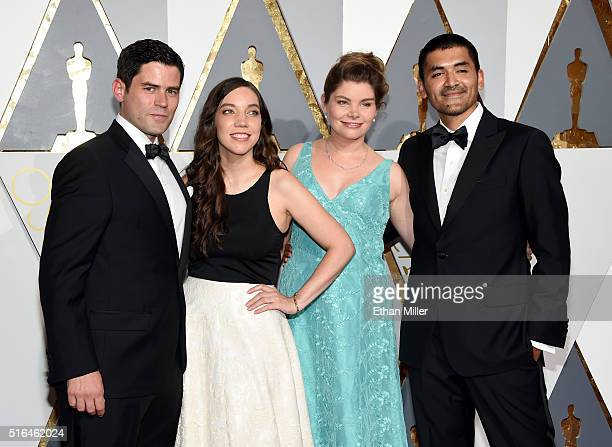 Producer Pato Escala Pierart and director Gabriel Osorio Vargas and guests attend the 88th Annual Academy Awards at Hollywood Highland Center on...