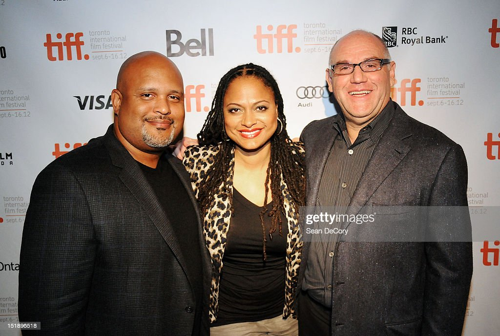Producer Paul Garnes, Director Ava DuVernay, and Producer Howard Barish attend 'Middle Of Nowhere' premiere during the 2012 Toronto International Film Festival at the Scotiabank Theatre on September 12, 2012 in Toronto, Canada.