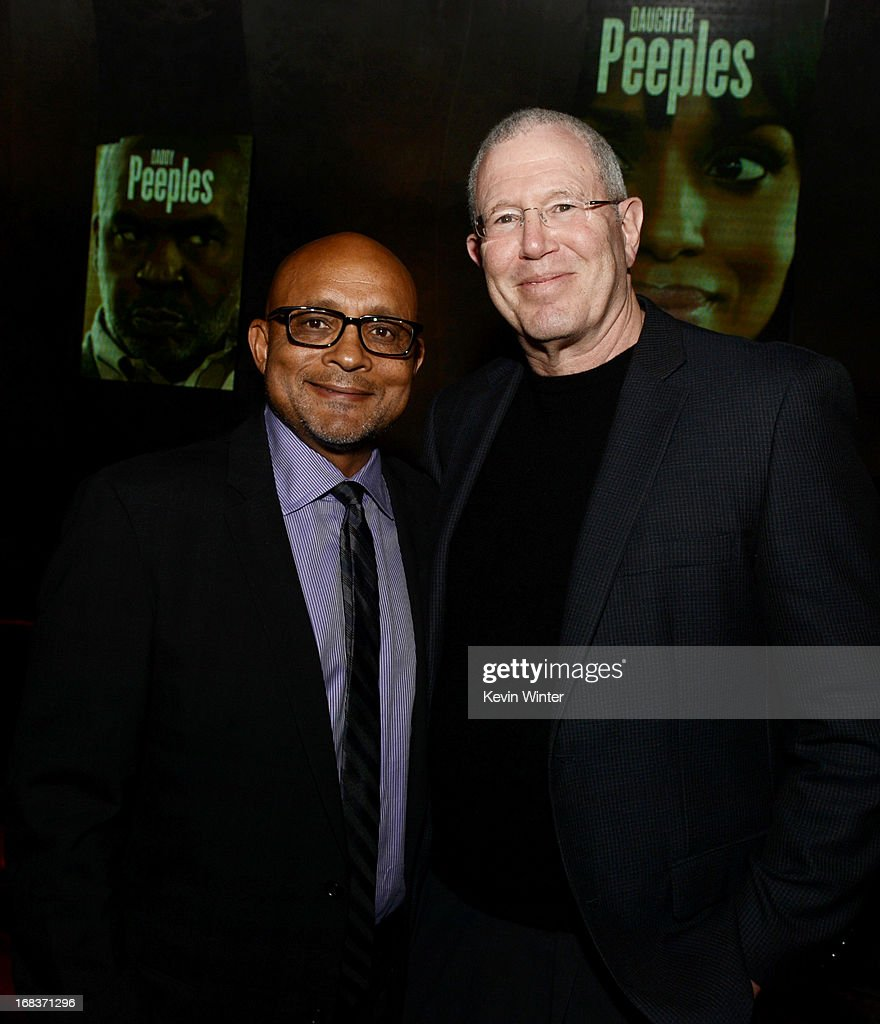 Producer <a gi-track='captionPersonalityLinkClicked' href=/galleries/search?phrase=Paul+Hall+-+Film+Producer&family=editorial&specificpeople=14444280 ng-click='$event.stopPropagation()'>Paul Hall</a> (L) and Michael Paseornek, President of Production, Lionsgate Films pose at the after party for the premiere of Lionsgate Films and Tyler Perry's 'Peeples' at Lure on May 8, 2013 in Los Angeles, California.